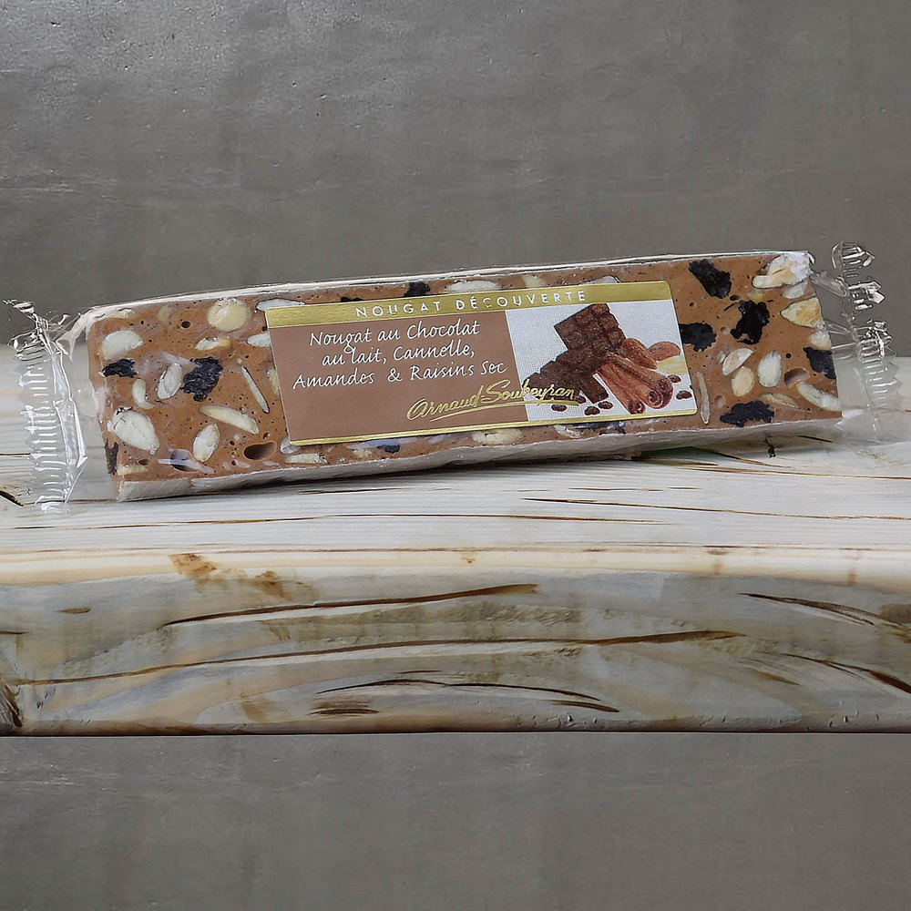 Milk chocolate Cinnamon Nougat - Home-made manufacturing ...