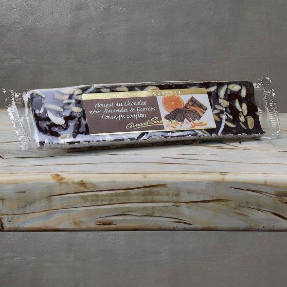 Nougat cacao et l'écorce d'orange confite - barre 100gr