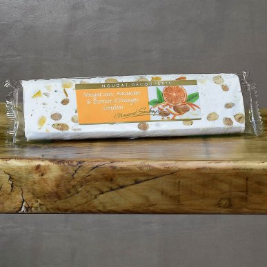 Nougat blanc à l'écorce d'orange confite - barre 100gr