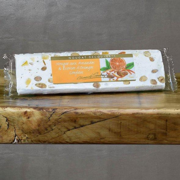 Nougat blanc à l'écorce d'orange confite - barre 100gr