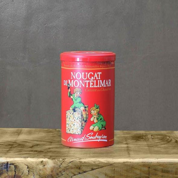 Nougat de Montélimar tendre - boite rouge papillotes 200gr