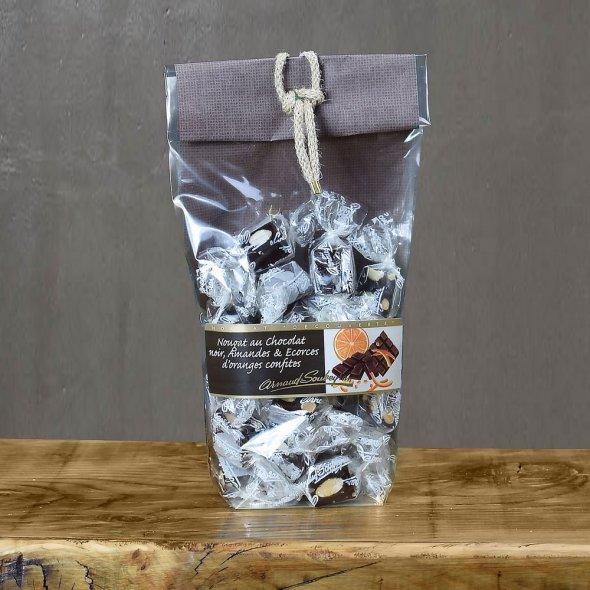 Nougat cacao et l'écorce d'orange confite - sachet papillote 200gr