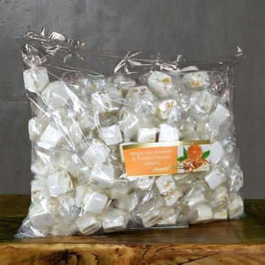 Nougat blanc à l'écorce d'orange confite - vrac 1kg