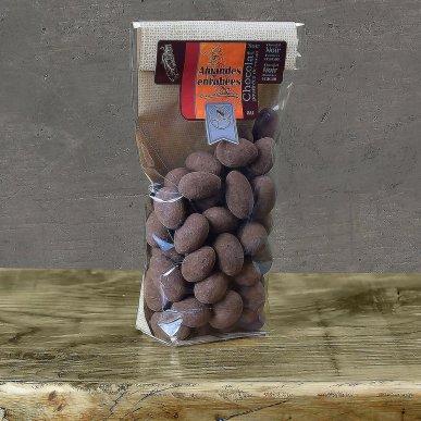 Amandes au chocolat noir cacao - sachet 180gr