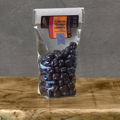 Raisins enrobés de chocolat noir - sachet 180gr
