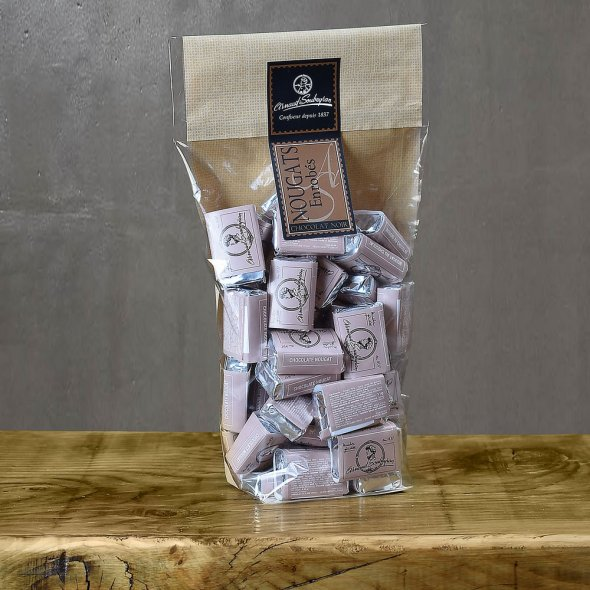 Nougat enrobé chocolat noir - sachet domino 400gr